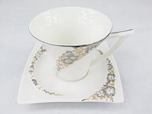 Stylish Ceramic Porcelain Coffee Cup & Saucer set